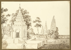 A Mugh temple in the compound of the house belonging to the Mahunt of Bodhgaya (Bihar). 27 December 1824